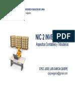 NIC 2 INVENTARIOS Aspectos Contables y Tributarios
