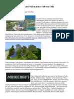 Terre cursus sur le jeu video minecraft sur 3ds