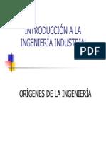 Origennes de La Ingeneria