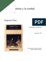 El Artista y la ciudad. Eugenio Trías