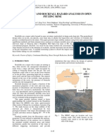 Slope Stability and Rockfall Hazard Analysis in Open