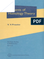 V. v. Prasolov Elements of Homology Theory Graduate Studies in Mathematics 81 2007