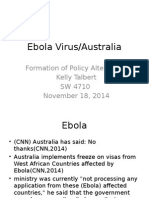 ebola virus formation of policy alternative