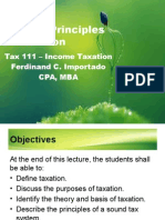 Principle of Taxation