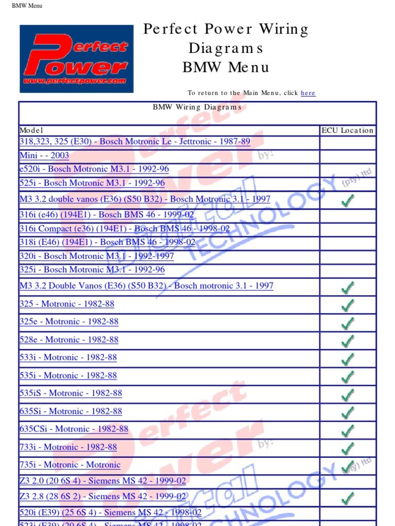 Niedlich Schaltplan Bmw E39 1997 Bilder - Schaltplan Serie Circuit ...
