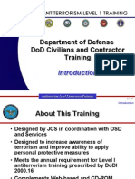 CHPT Anti Terrorism Level 1 Training DOD US