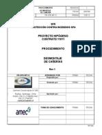 PR OPE MT 012 Desmontaje de Cañería