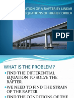 Solution of a Rafter by Linear Differential Equations