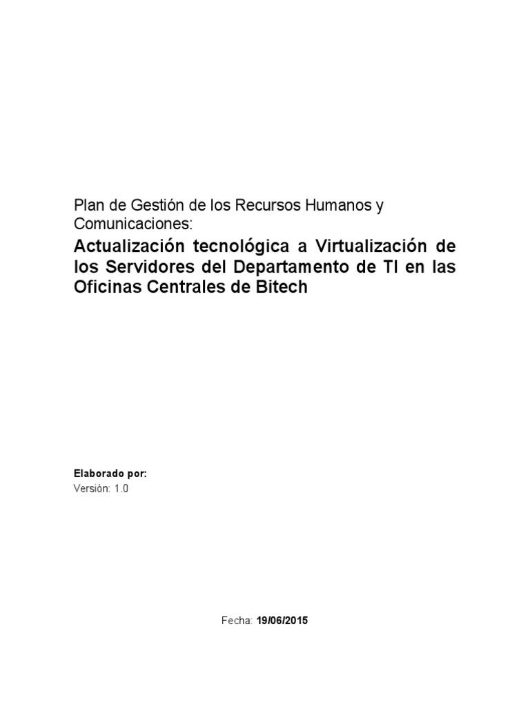 7.Plantilla Plan de Gestion de Los Recursos Humanos y Comunicaciones