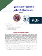 Vet State Benefits & Discounts - MI 2015