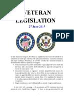 Veteran Legislation 150629