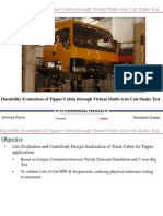 Durability Evaluation of Tipper Cabin