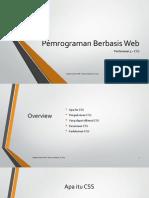 Pemrograman Berbasis Web 3 - CSS