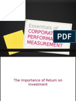 Essentials of Corporate Performance Measurement Part 1