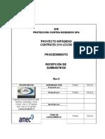 PR-OPE-MT-018 Inspección y Recepción de Materiales y Equipos Rev 0