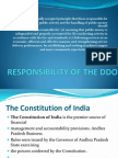 Duties & Responsibilities of DDOs