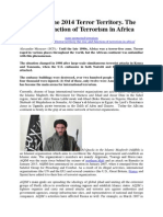 Mezyaev June 2014 Terror Territory. the Rise and Function of Terrorism in Africa