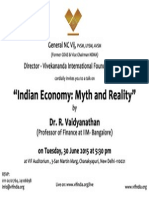 Vimarsha on Indian Economy - Myth and Reality