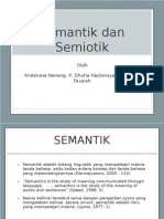 Semantic and Semiotic Slide