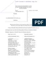 Distributed v. U.S. Dep't. of State Plaintiffs' Reply to Defendants' Opposition