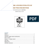 Elmer W. Benner Family Genealogy