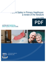 Patient Safety in Primary Health Care a Review of the Literature 2009