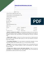 Información Nutricional de Maracuya y Chia