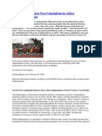 Sappor 2009 French Neo-Colonialism in Africa After Independence CFA MANIPULATION