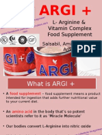 ARGI + L- Arginine & Vitamin Complex Food Supplement