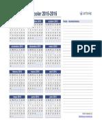 Calendario Escolar 2015 2016