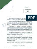 Carta Defensor Pueblo reconociendo falta asistencia sanitaria universal en España