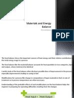 Materials and Energy Balance - Course 7 Heat Balance