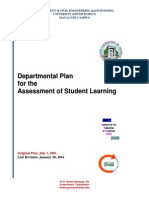 PLAN - Departmental Student Learning Assessment Plan