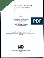 Classification of Procedures in Medicine