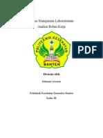 Analisis Beban Kerja Rahmania Azwarini