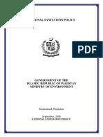 National Sanitation Policy