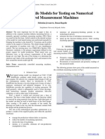 Design of Missile Models for Testing on Numerical Control Measurement Machines