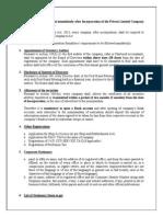 Post Incorporation - Checklist