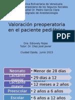 Valoración Preoperatoria en El Paciente Pediátrico
