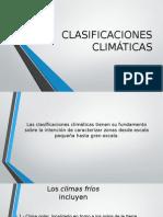 CLASIFICACIONES CLIMÁTICAS