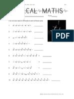 Musical Maths