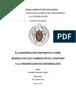 La información deportiva como modelo de los cambios en el consumo y la producción de información
