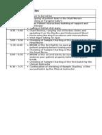 Schedule of Activities Short