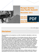 Alumina Limited - Morgan Stanley Presentation