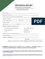 Modulo Iscrizione Campus Delle Arti 2015 (2)
