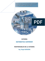 Syllabus Matemática Superior