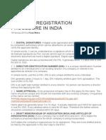 Company Registration Procedure in India