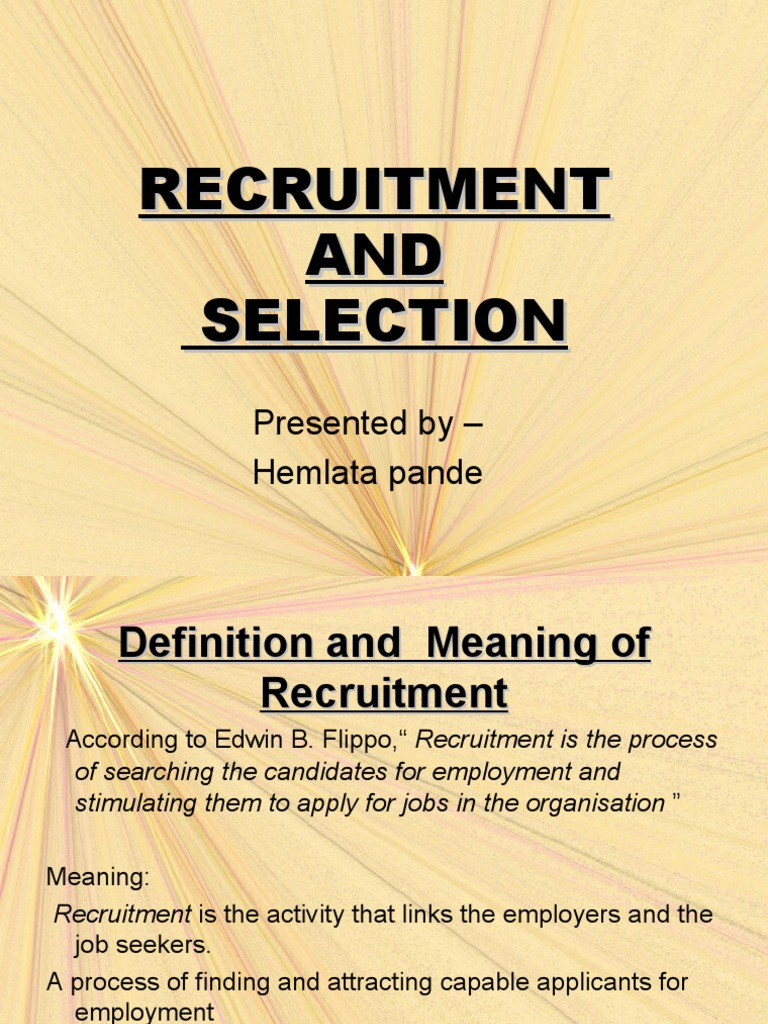 recruitment and selection assignment pdf
