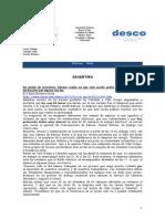 Noticias - News 17-Feb-10 RWI-DESCO