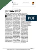 Commedia e tragedia per i 18 anni di Velia - La gazzetta del Mezzogiorno del 28 giugno 2015